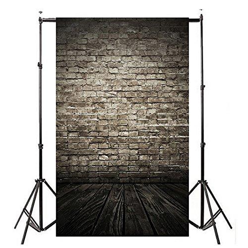 TianranRT Studio Studio Hintergrund Tuch Vinyl Holz Wand Boden Fotografie Studio Requisite Hintergrund Hintergrund 3x5FT A (A) -