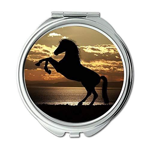 Yanteng Spiegel, Reise-Spiegel, Tiertiere hinterleuchtet, Taschenspiegel, tragbarer Spiegel