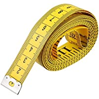 Jungen 120-Inch suave cinta métrica para costura Tailor Gamuza regla Amarillo