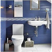 Cenefa de pared autoadhesiva floral blanca ideal dormitorio, escaleras, baños, cocinas, lofts