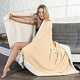 CelinaTex Kuscheldecke, Polyester, Creme weiß/beige, XXL 220 x 240 cm