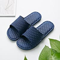 fankou The Bathroom Slippers Summer Female Anti-Slip Home Stay in The Room Thick Bath Floor Slippers Male Couples Are Cool in The Summer and,42-43, Dark Blue
