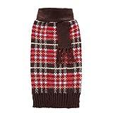 Tenchif Hund Warm Pullover Kleidung Puppy Mantel Kleid mit Schal