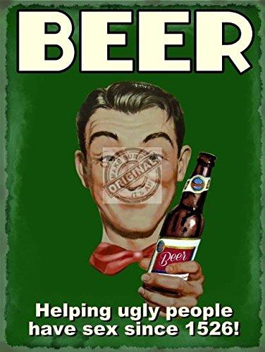 bier-helping-ugly-people-sex-haben-seit-1526-old-retro-lustig-drunk-mit-bier-flasche-metall-stahl-wa