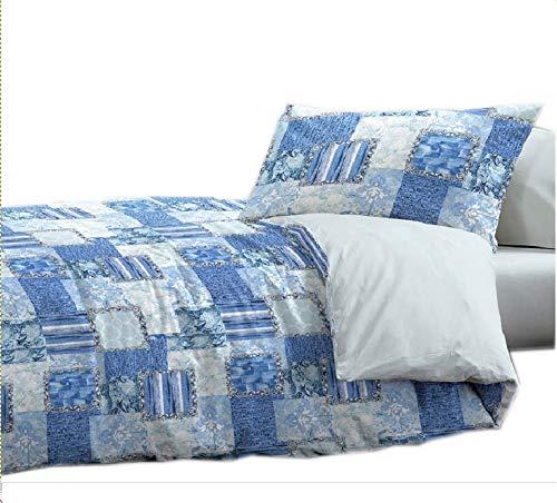 Trapuntino estivo singolo azzurro blu mare 1 piazza 165 x265 cm microfibra lavabile in lavatrice copriletto trapuntato dis. ocean