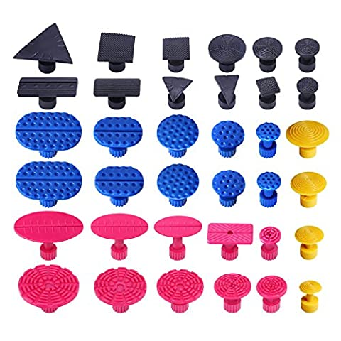 Glue Puller Sets Tabs Super PDR Pro Pulling Tabs Paintless Kits for Dent Removal Repair (36 PCS)
