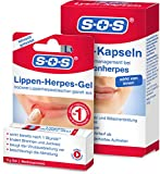 SOS Lippen-Herpes-Set   Lippen-Herpes-Gel + Lysin-Kapseln   L-Lysin   Silicium-Gel