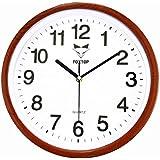 Foxtop Reloj de pared silencioso clásico estilo vintage, Rojo, 30 cm