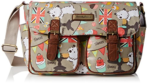 Swankyswans Damen Biba Dog Cupcake Party Classy Tornistertasche