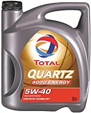 Total - Lubrificante Quartz 9000 Energy 5W-40 per motori benzina e diesel, flacone da 5 l