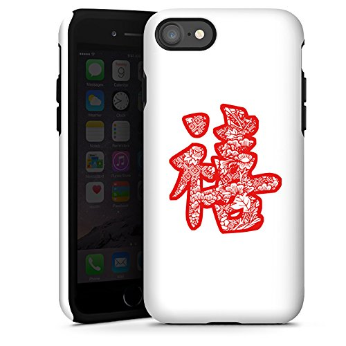 Apple iPhone X Silikon Hülle Case Schutzhülle China Schriftzeichen Asien Tough Case glänzend