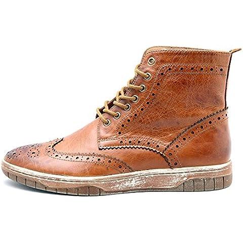 Martin stivali/ moda uomo autunno/inverno dell'Inghilterra/ scultura di olio-cera retrò scarpe alte