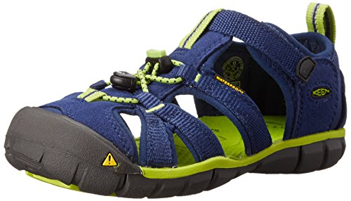 Keen Unisex-Kinder Seacamp II Cnx Geschlossene Sandalen, Blau (Blue Depths/Lime Green), 24 (7 Kinder UK)
