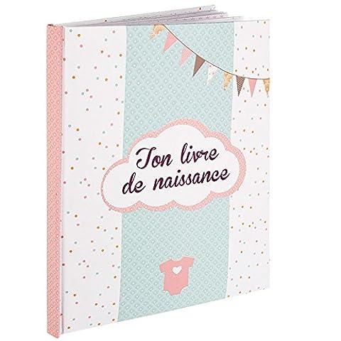 Livre de naissance - Album Naissance Textes Photos - 56 pages - Fille