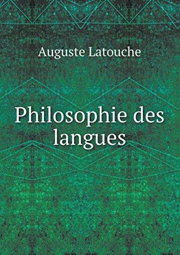 Philosophie Des Langues