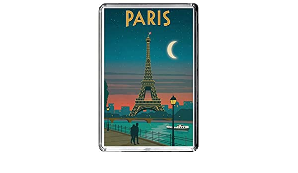 F147 PARIS AIMANT POUR LE FRIGO FRANCE VINTAGE TRAVEL PHOTO REFRIGERATOR MAGNET