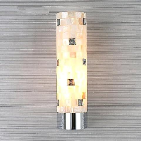 Modernes einfaches handgemachtes natürliches Shell-Wand-Lampen-Schlafzimmer Nachttisch im Freien LED-Wand-Licht Europäisches Wohnzimmer-Balkon-Treppenhaus-dekorative Beleuchtung (2 Arten) ( design : A )