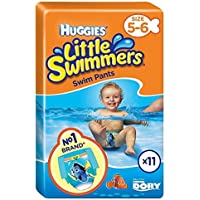 Huggies Little Swimmers Talla 5-6 Mediana 11 Por Paquete
