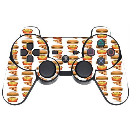 pizza-burger-and-fries-design-yum-ps3-dual-shock-wireless-controller-vinyl-decal-sticker-skin-by-deb
