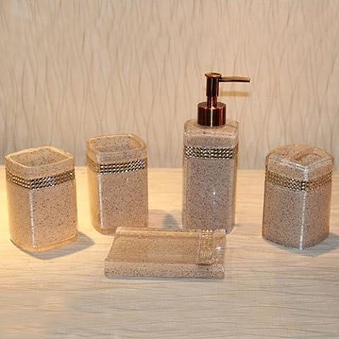 Argento continentale bagno di resina 5-piece Set