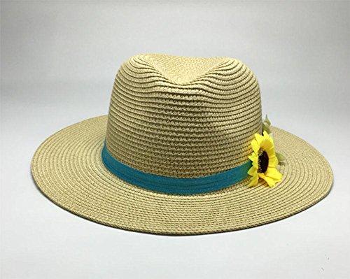 Chapeau de soleil, plage, chapeau, chapeau Mme beige