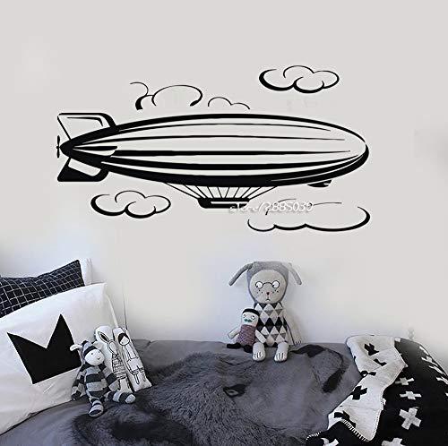48X89 cm Luftschiff Wolke Vinyl Wandaufkleber Dekor Kindergarten Kinderzimmer Wandtattoo In Verschiedenen Farben Tapete Design Wandbild