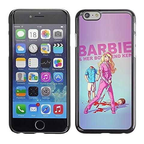 TopCaseStore / caoutchouc Hard Case Housse de protection la Peau - Doll Blonde Thin Move Uma Parody Sword - Apple iPhone 6 Plus 5.5