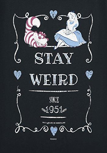 Alice im Wunderland Stay Weird Girl-Shirt Schwarz Schwarz