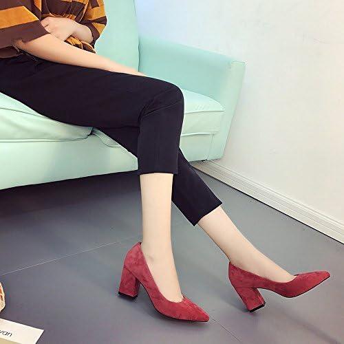 DHG Use Zapatos de Tacón Alto Zapatos de Moda Bromista Zapatos de Boca Poco Profunda,UN,37