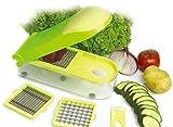 Gemüseschneider Obstschneider Früchteschneider 26x10x6cm, Farbe: Grün