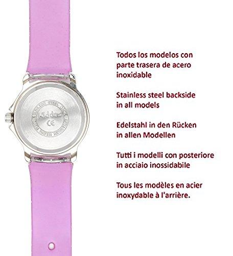 Kiddus Kinder Mädchen Uhr Analog Japanischer Quarz Armband mit Glitzer Wasserdicht FAB4 Stern - 5