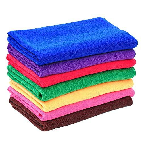 Possec multiuso in microfibra ad asciugatura rapida, lavaggio, panno pulizia auto, nuoto asciugamano 30*70cm, 10pezzi