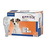 EFFITIX SMALL (4-10 kg) - Efficace antiparassitario per cani contro pulci, zecche e flebotomi
