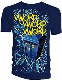 Doctor who tardis vworp t-shirt pour homme bleu