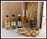 Geschenk Peated Malts rauchige Whisky mit Edel Schokolade, Whisky Fudge & Glas, kostenloser Versand