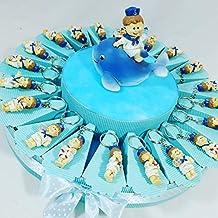 Recuerdo para comunión, bautizo, confirmación con diseño de tarta porta confites