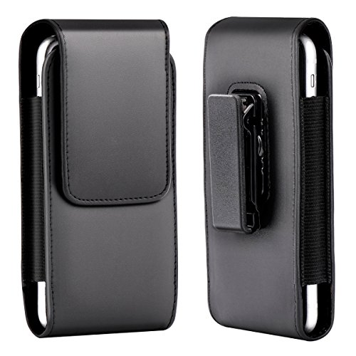 Xidan Custodia Borsa a Tracolla Verticale in Pelle con Clip da Cintura Rotante per Samsung Galaxy Note2/3/4/5