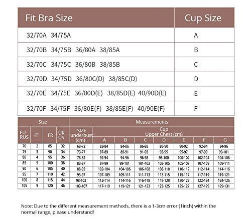 DKNBI BH Damen ungefüttert volle Cup Lace BHS Bügel Bralette - 3