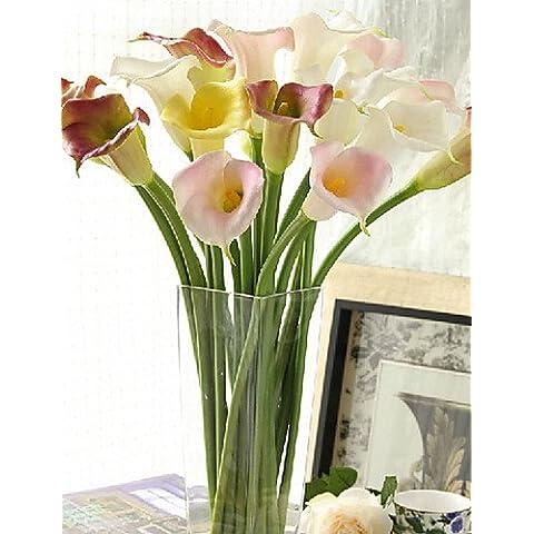 flores artificiales, Plástico Lirios Flores Artificiales , white