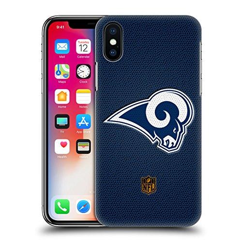 Head Case Designs Offizielle NFL Fussball Los Angeles Rams Logo Harte Rueckseiten Huelle kompatibel mit iPhone X/iPhone XS