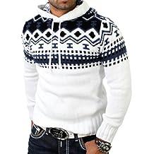 a basso prezzo 24236 dd8c8 maglione norvegese - Bianco - Amazon.it