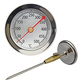 Lantelme LA_62-500 + KONUS – Termómetros de Horno, analógica y bimetálico 50 cm de Largo, 6,2 cm de diámetro Pantalla