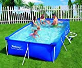 Bestway Swimmingpool 399x211x81 cm Komplett-Set mit Pumpe und Filter -