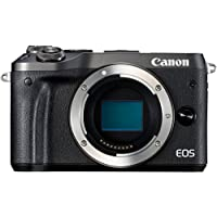 Canon EOS M6 Systemkamera (24,2 Megapixel, 7,62 cm (3 Zoll), APS-C CMOS-Sensor, DIGIC 7 Bildprozessor, Full-HD, Gehäuse) schwarz