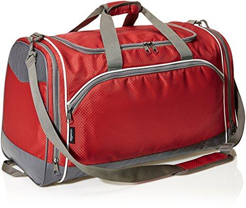 AmazonBasics - Sporttasche, Größe M, Rot