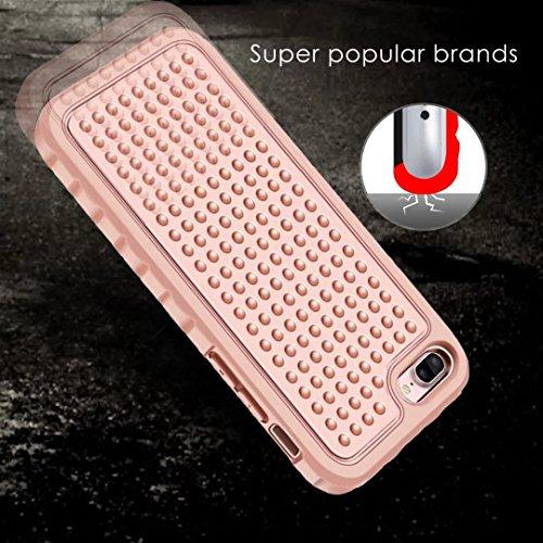 IPhone 7 Plus Case, Super Shockproof 3 In 1 Vollkörper Schutz PC Hard zurück Fall für IPhone 7 Plus ( Color : Pink ) Pink