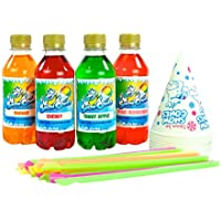 Conos De Nieve Syrup | Slush Syrup - 4 botellas de 250 ml - El paquete Candy Crush Pack