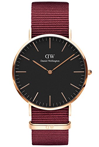 Daniel Wellington Unisex Adult Analogue Quartz Watch with Nylon Strap DW00100269