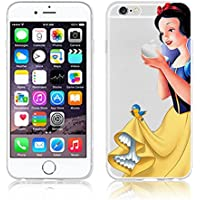 Disney PRINCESS transparente in poliuretano termoplastico per iPhone-Cover ; Minions ; Winnie ; cartoon, trasparente in poliuretano termoplastico per iPhone-Cover per Apple iPhone 5, 5S, 5C, 6/6S , 6PLUS , iphone7 plastica, (iphone 6+, Snowwhite)