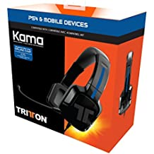 Tritton Kama - Auriculares estéreo de diadema cerrados , color negro (PS4, ...